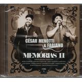 Cd César Menotti E Fabiano   Memórias 2 [ Duplo]